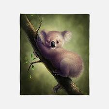 Cute Koala Bear Throw Blanket