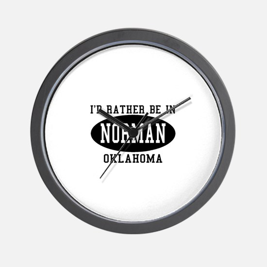 I'd Rather Be in Norman, Okla Wall Clock