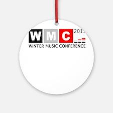 WMC 2015 Winter Music Conference Round Ornament