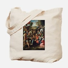 Christ Falling on the Way to Calvary Tote Bag