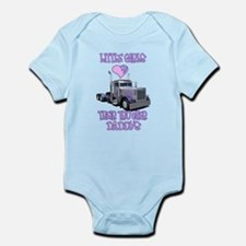 Little Girls Love Their Trucker Daddys Infant Body