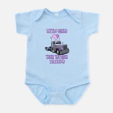 Little Girls Love Their Trucker Daddys Onesie