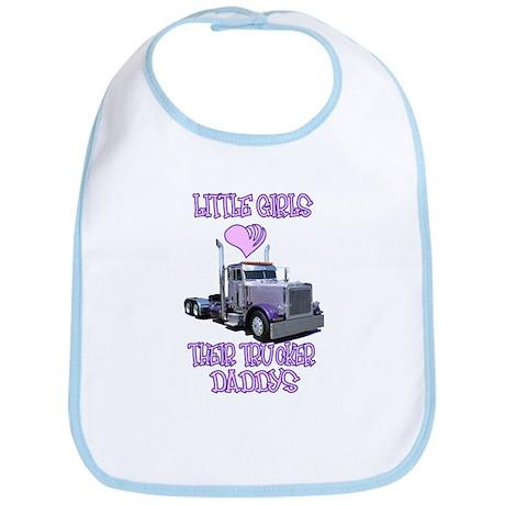Little Girls Love Their Trucker Daddys Bib