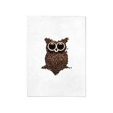 Coffee Owl 5'x7'Area Rug