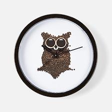 Coffee Owl Wall Clock