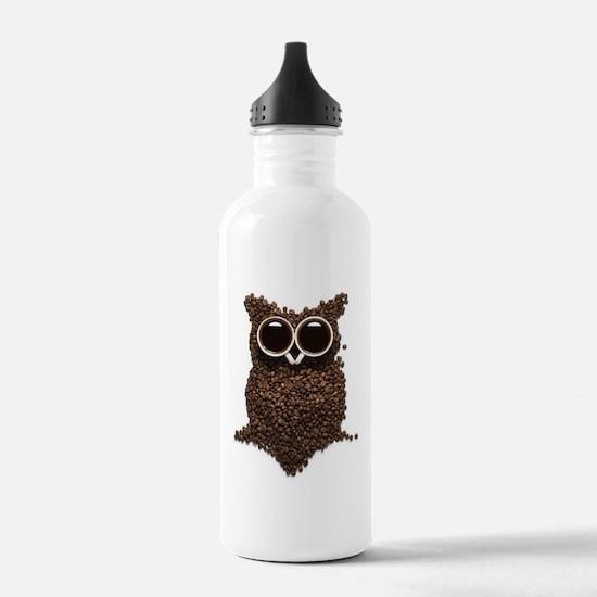 Coffee Owl Water Bottle