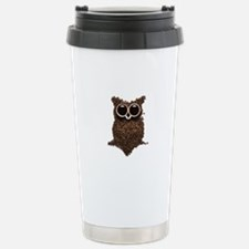 Coffee Owl Stainless Steel Travel Mug
