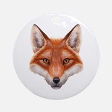 Red Fox Face Round Ornament
