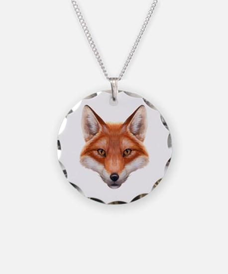 Red Fox Face Necklace