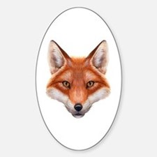 Red Fox Face Decal