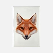 Red Fox Face Rectangle Magnet