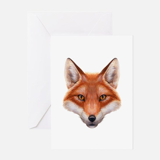 Red Fox Face Greeting Card