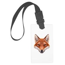 Red Fox Face Luggage Tag