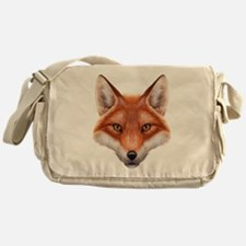 Red Fox Face Messenger Bag