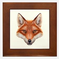 Red Fox Face Framed Tile