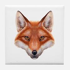 Red Fox Face Tile Coaster