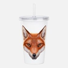 Red Fox Face Acrylic Double-wall Tumbler