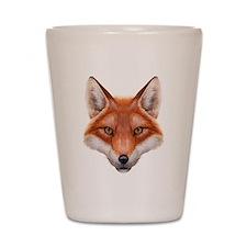 Red Fox Face Shot Glass
