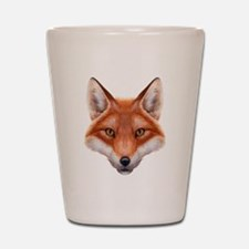 Red Fox Face Shot Glass