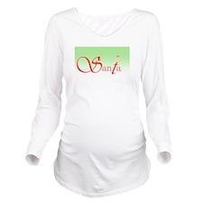 Santa Wisdom Long Sleeve Maternity T-Shirt