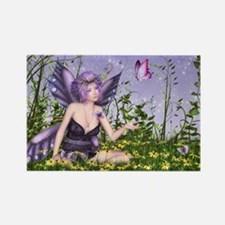 Purple Spring Fairy Rectangle Magnet