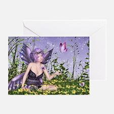 Purple Spring Fairy Greeting Cards (Pk of 20)
