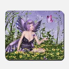 Purple Spring Fairy Mousepad