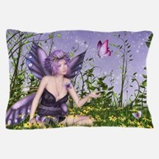 Purple Spring Fairy Pillow Case