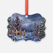 Christmas Landscape Ornament