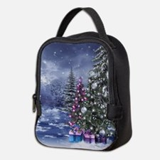 Christmas Landscape Neoprene Lunch Bag