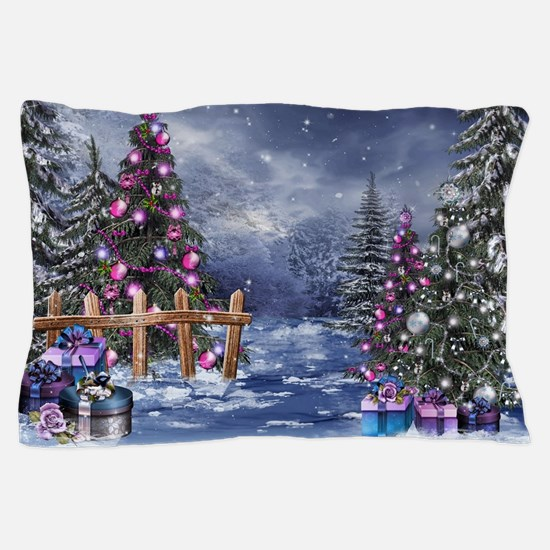 Christmas Landscape Pillow Case