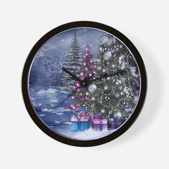 Christmas Landscape Wall Clock