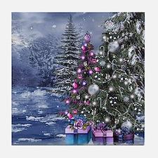 Christmas Landscape Tile Coaster