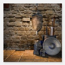 """Medieval Weaponry Square Car Magnet 3"""" x 3"""""""