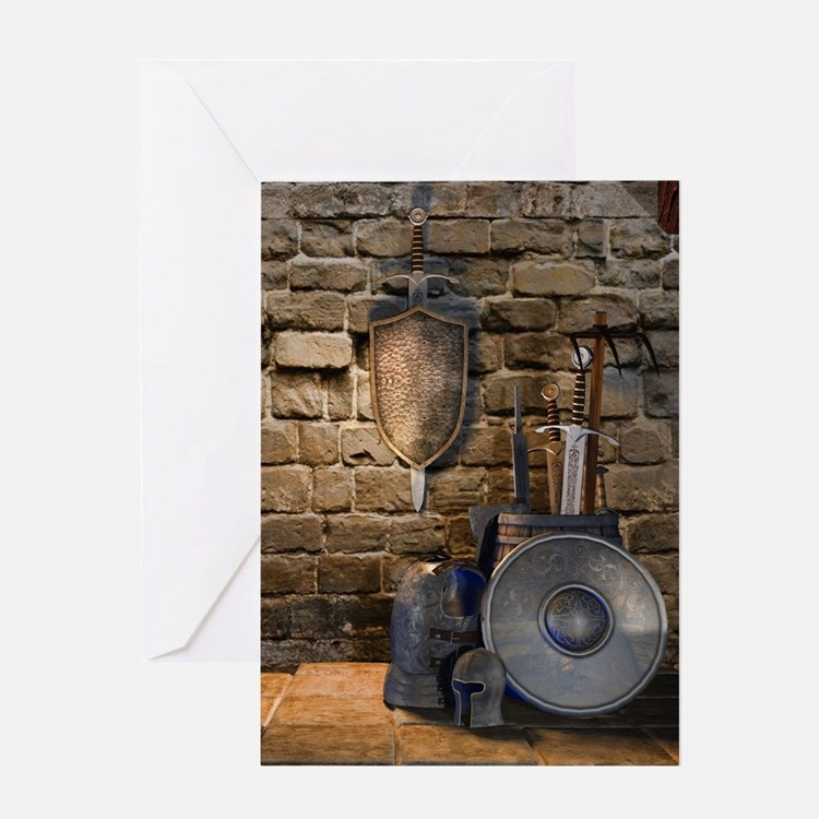 Medieval Weaponry Greeting Card
