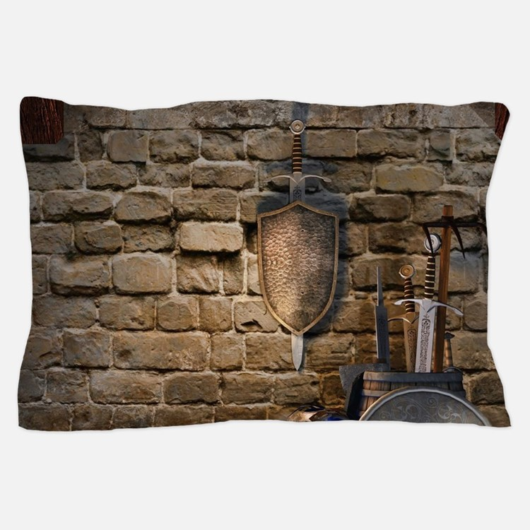 Medieval Weaponry Pillow Case
