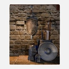 Medieval Weaponry Throw Blanket