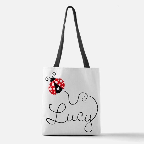 Ladybug Lucy Polyester Tote Bag