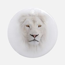 White Lion Head Round Ornament