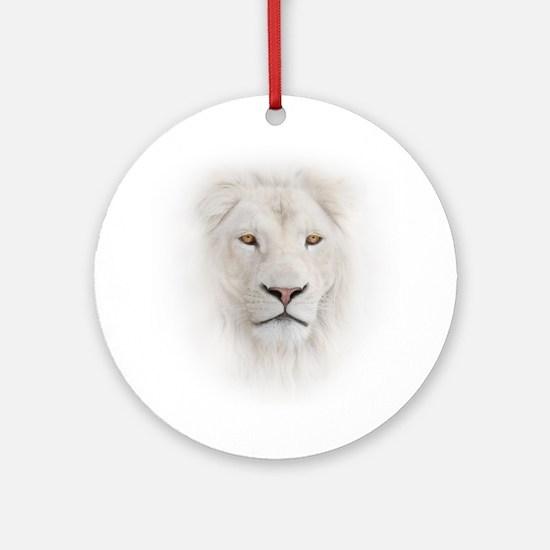 White Lion Head Round Ornament