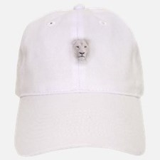 White Lion Head Baseball Baseball Cap