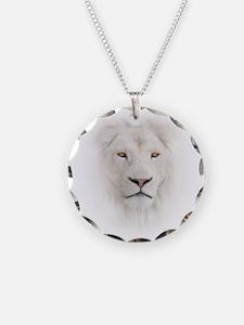 White Lion Head Necklace