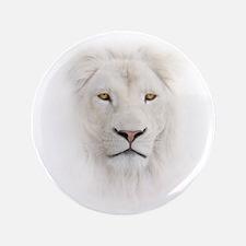 White Lion Head Button