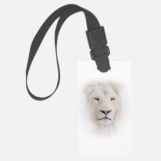 White Lion Head Luggage Tag