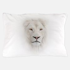 White Lion Head Pillow Case