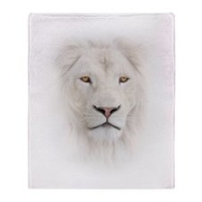 White Lion Head Throw Blanket
