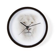 White Lion Head Wall Clock