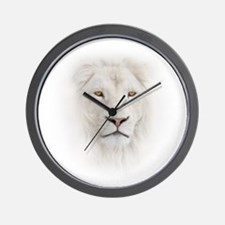 White Lion Head Wall Clock