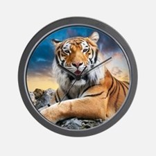 Tiger Sunset Wall Clock