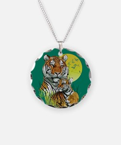 Tiger and Cub Necklace
